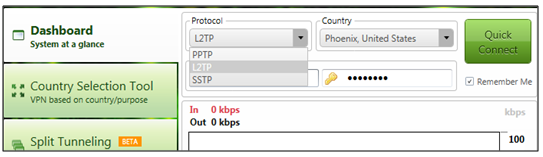 How to choose Protocols on PureVPN Dialer
