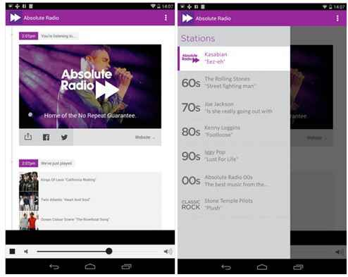 Absolute Radio Android App