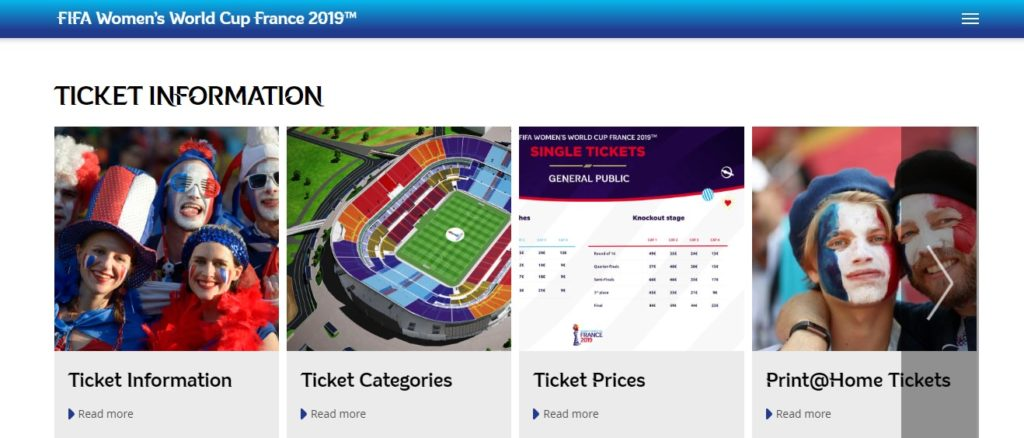 Ticket Information of FIFA WC matches