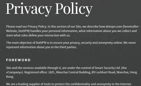 DotVPN-Privacy-Policy