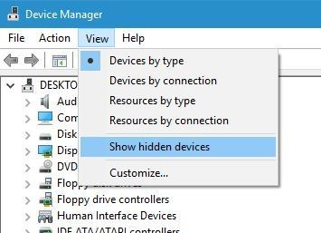 device manager settings