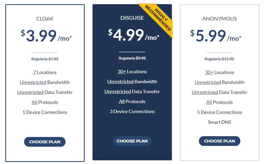 Incognito-VPN-Pricing-Plans