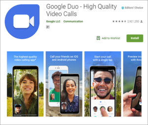 Google Duo on Android in China