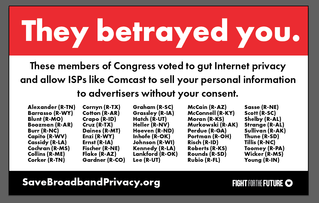 Internet Privacy Law Repeal