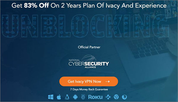 Ivacy - Best VPN for Chromebook