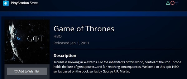 Playstation-Store-Game-of-Thrones-live-online