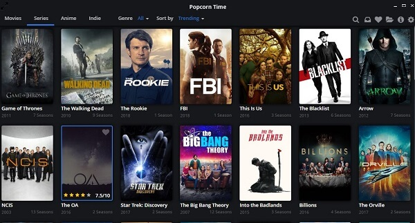 Popcorn-time-interface