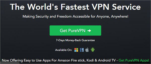 PureVPN Best VPN for Chromebook