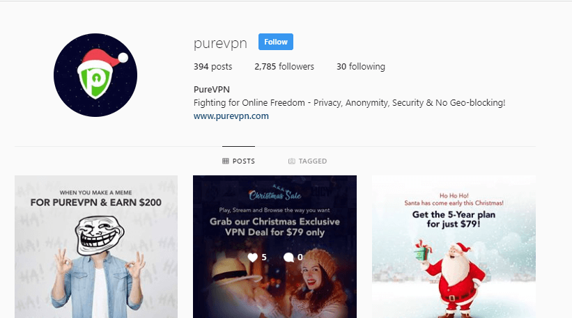 PureVPN-Instagram-Account