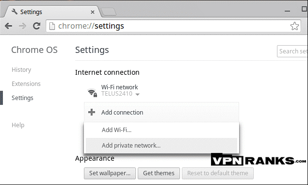 Setup VPN on Chromebook with L2TP
