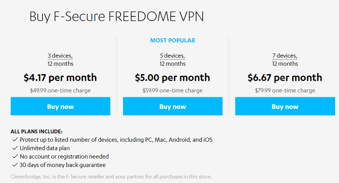 F-Secure-Freedome-Pricing-Plans