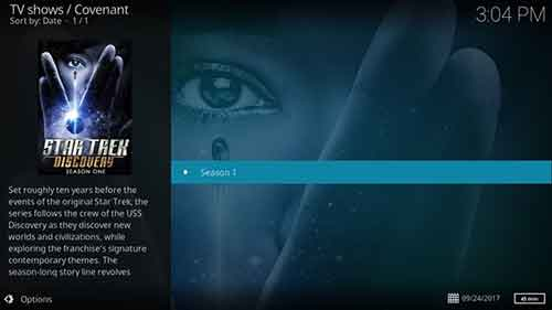 how to watch star trek discovery on kodi