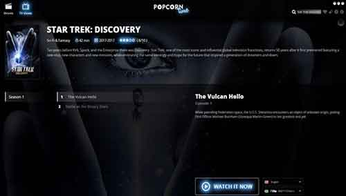 how to watch star trek discovery on popcorn time
