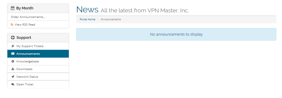 VPN-Master-Announcements