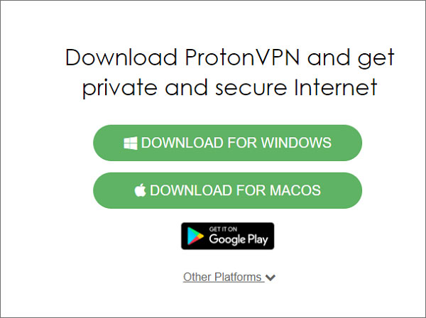 ProtonVPN-Download
