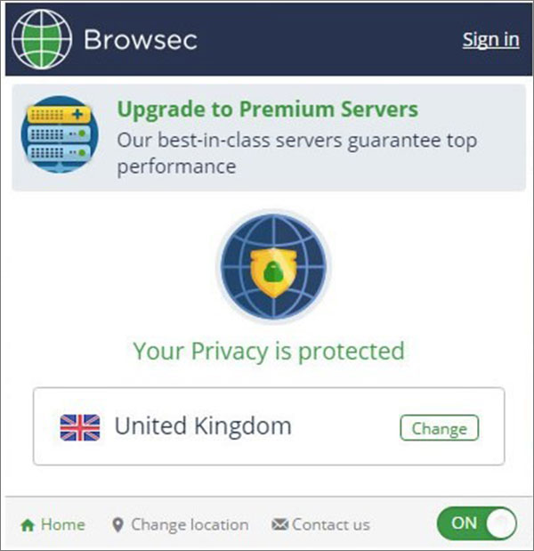 Browsec VPN为Chrome