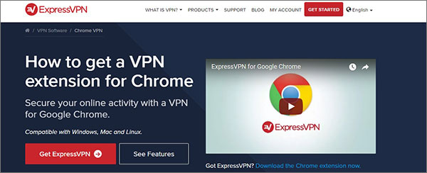 ExpressVPN Chrome扩展程序