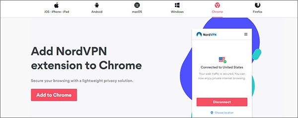 NordVPN Chrome扩展程序