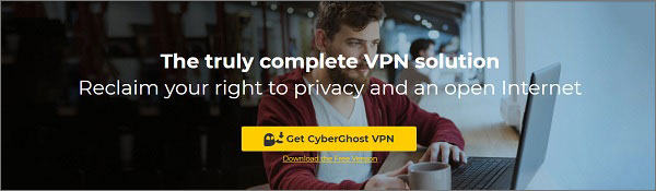 Cybeghost - top vpn for Opera