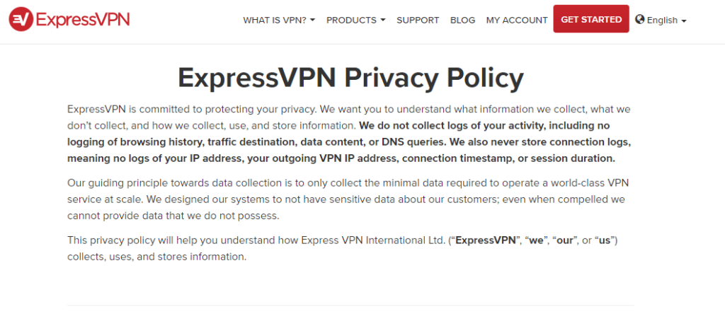 ExpressVPN New Privacy Policy