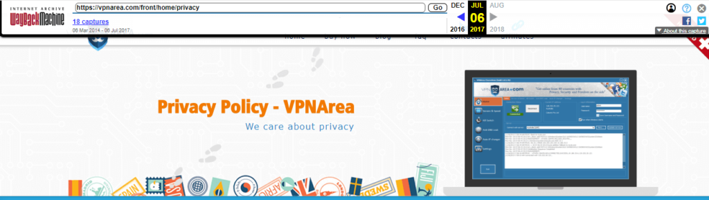 VPNArea's privacy policy