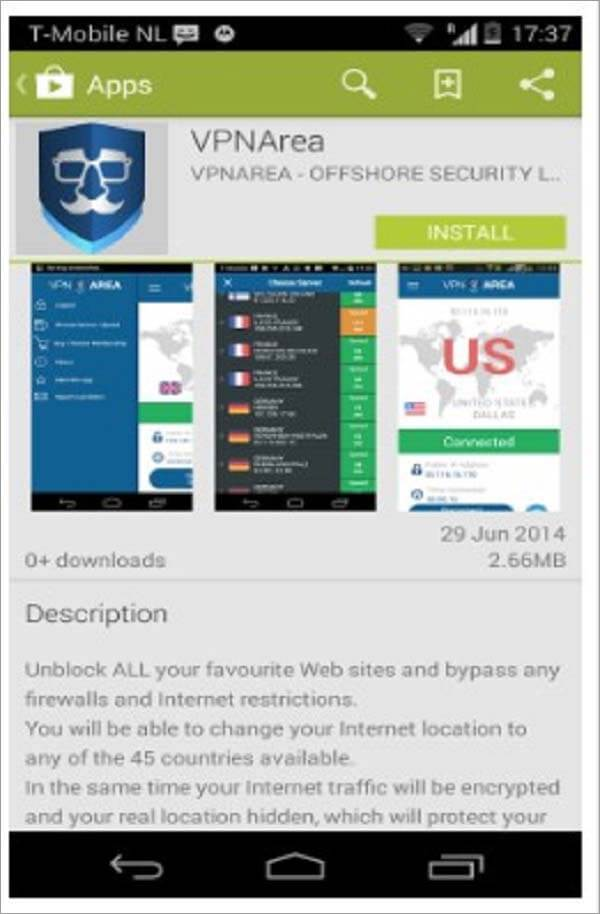VPNArea-Android-App-Review