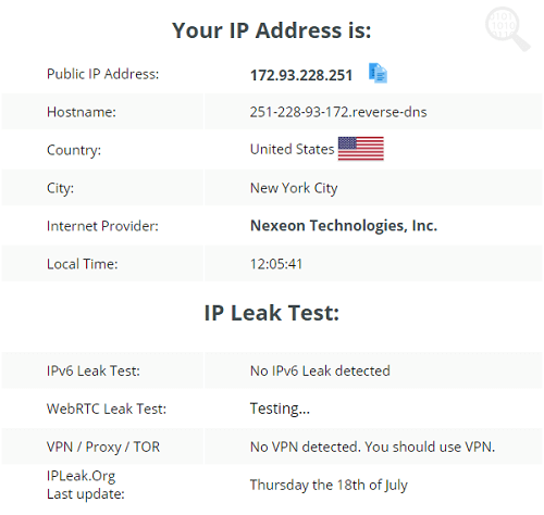 Goose-VPN-IP-Leak-Test