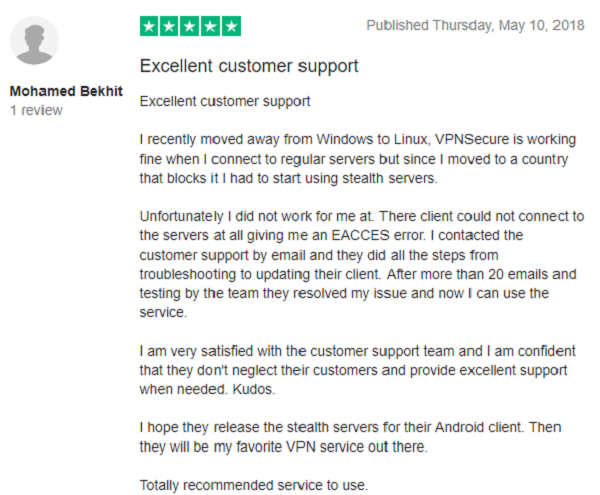 TrustPilot-Review-for-VPNSecure-1