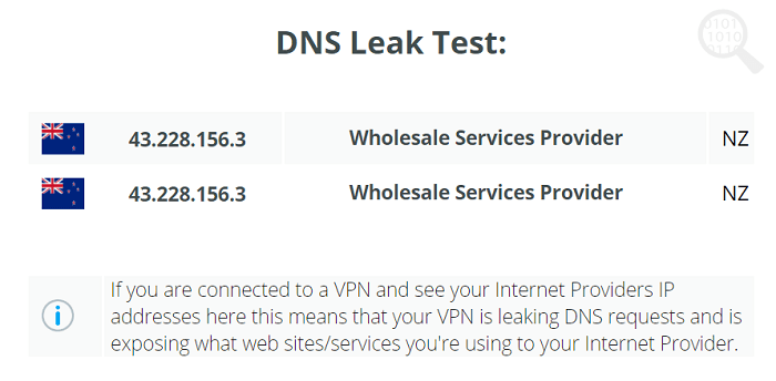 VPNTunnel-DNS-Leak-Test