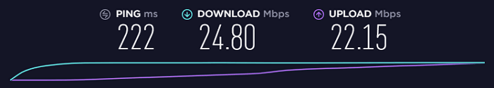 Internet-Connection-Speed-without-AVG-VPN