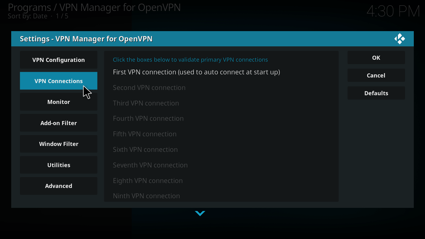 First-VPN-connection