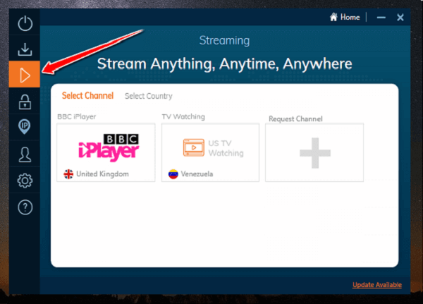 Ivacy-Streaming-Option