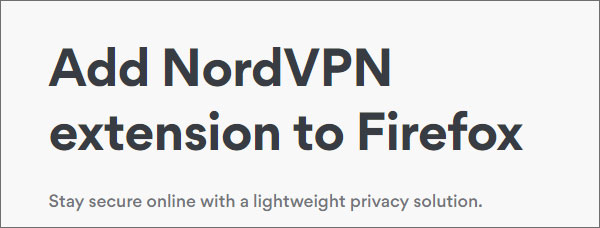 NordVPN-FireFox-Extension