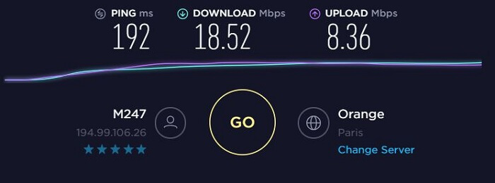 ExpressVPN-Speed-Test-France