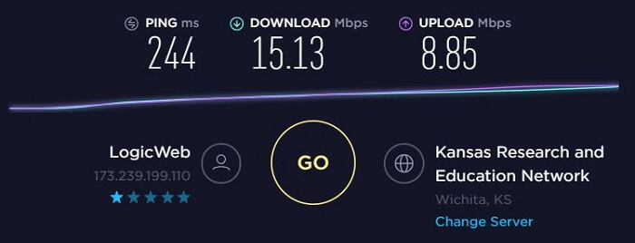 ExpressVPN-Speed-Test-Kansas