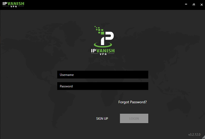 IPVanish-Windows-app-login