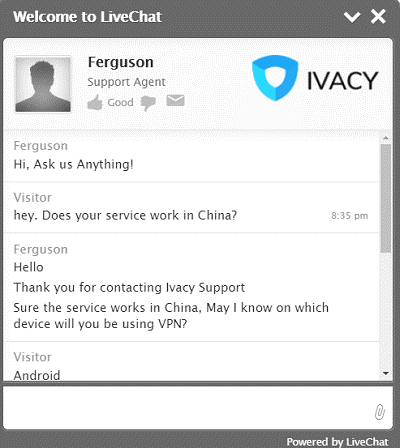 Ivacy-Live-Chat
