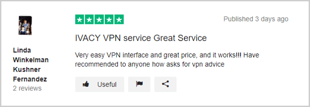 Ivacy-Review-on-Trustpilot