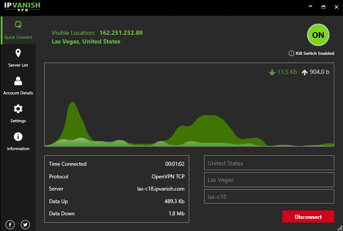 Las-Vegas-IPVanish-Server-on-Windows