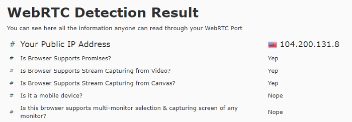 VPN-Master-WebRTC-Leak-Test