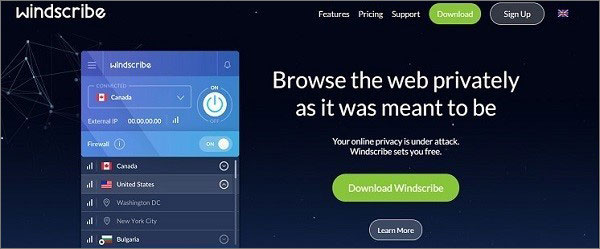 Windscribe - Best Free VPN for Philippines
