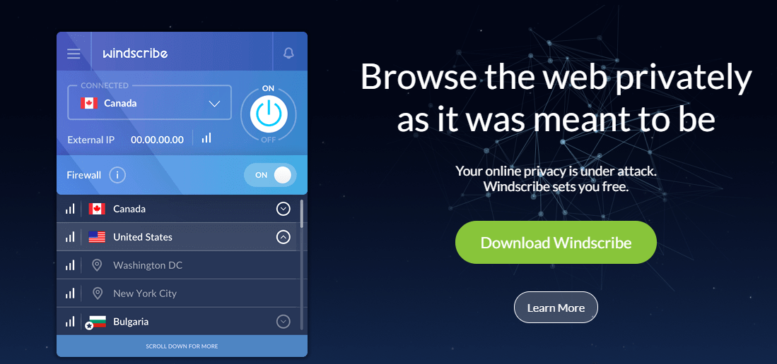 Windscribe-VPN-für-Kanada