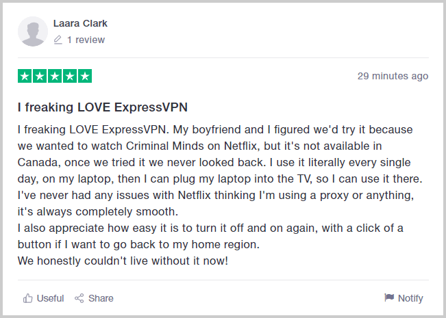 ExpressVPN-Review-on-Trustpilot