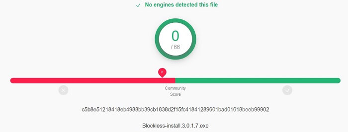 Blockless-Virus-test