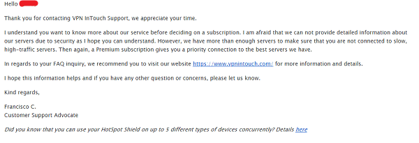 Customer-Support-of-VPN-in-Touch