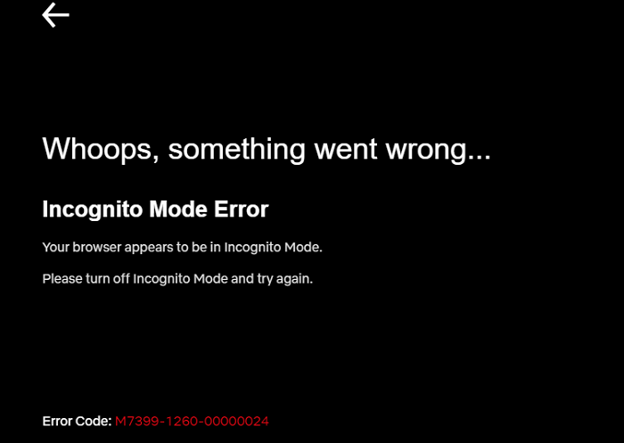 Netflix-Incognito-Mode-Error