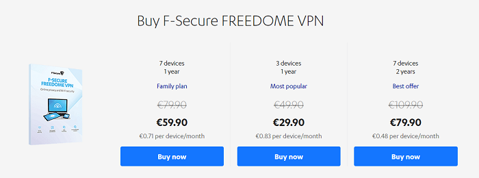 f-secure-freedome-vpn-pricing-plans