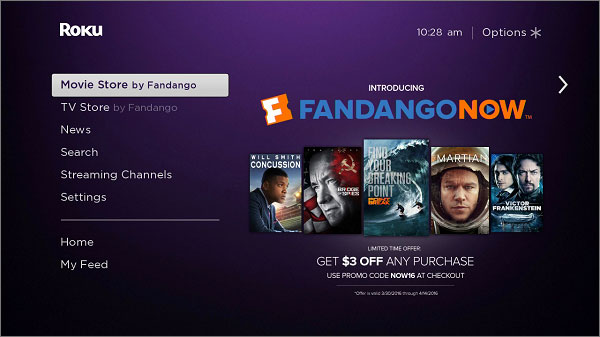 How to Watch FandangoNow on Roku