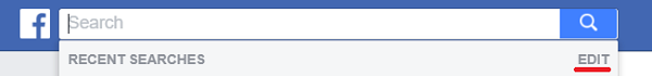 FaceBook delete recent searches