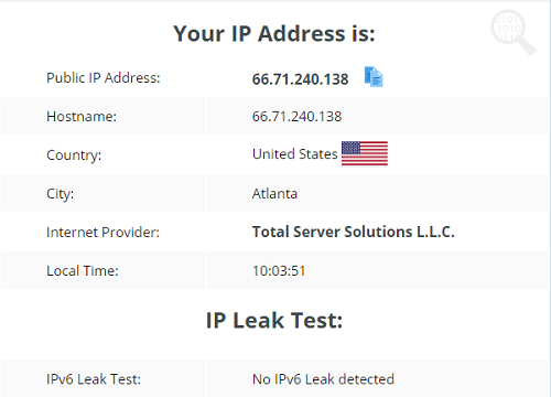VPN One Click IP Leak Test